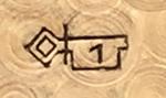 An example of a N°1 stamped Geneva key hallmark