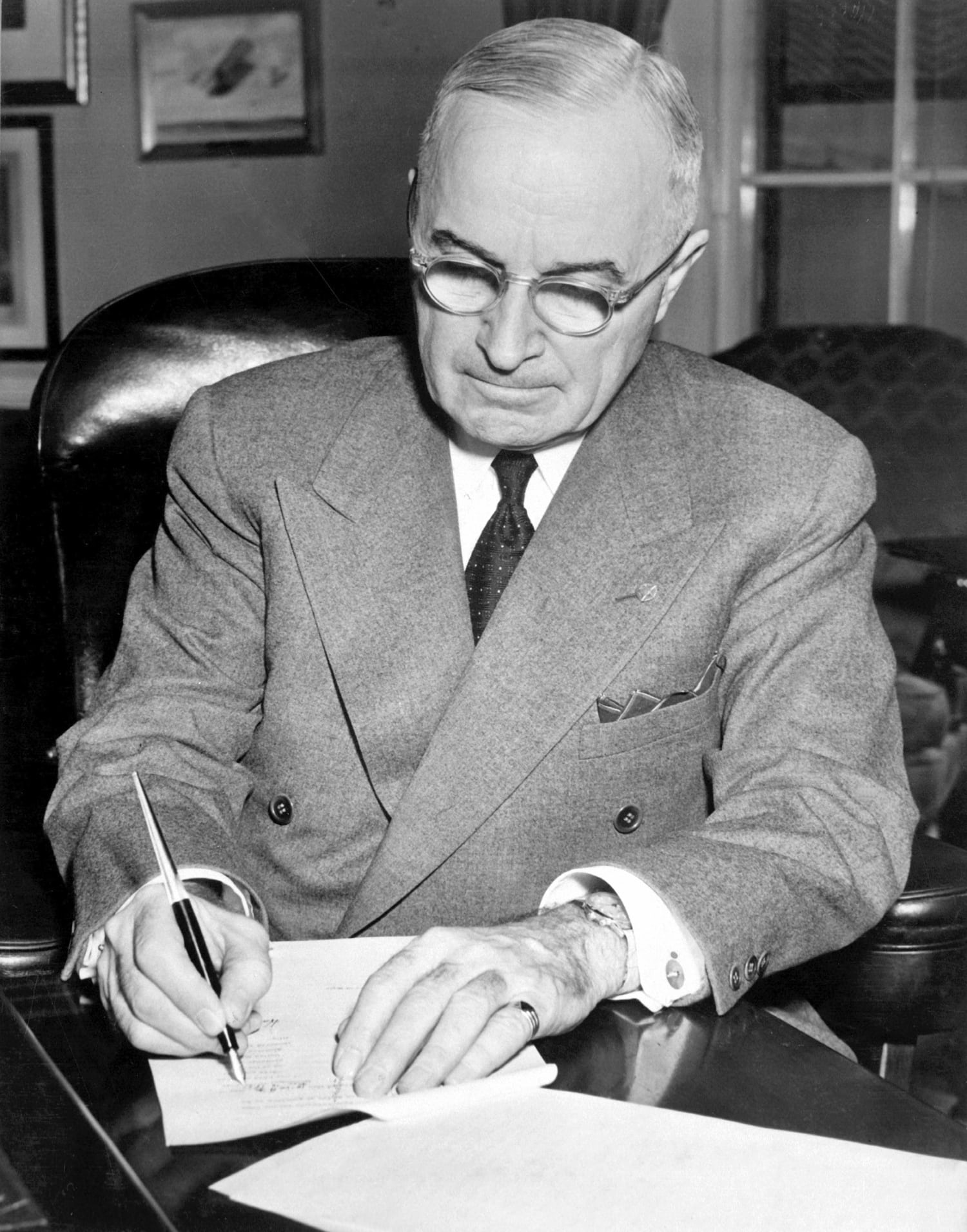 US president H. Truman wearing his UG Tri-Compax at the Potsdam conference