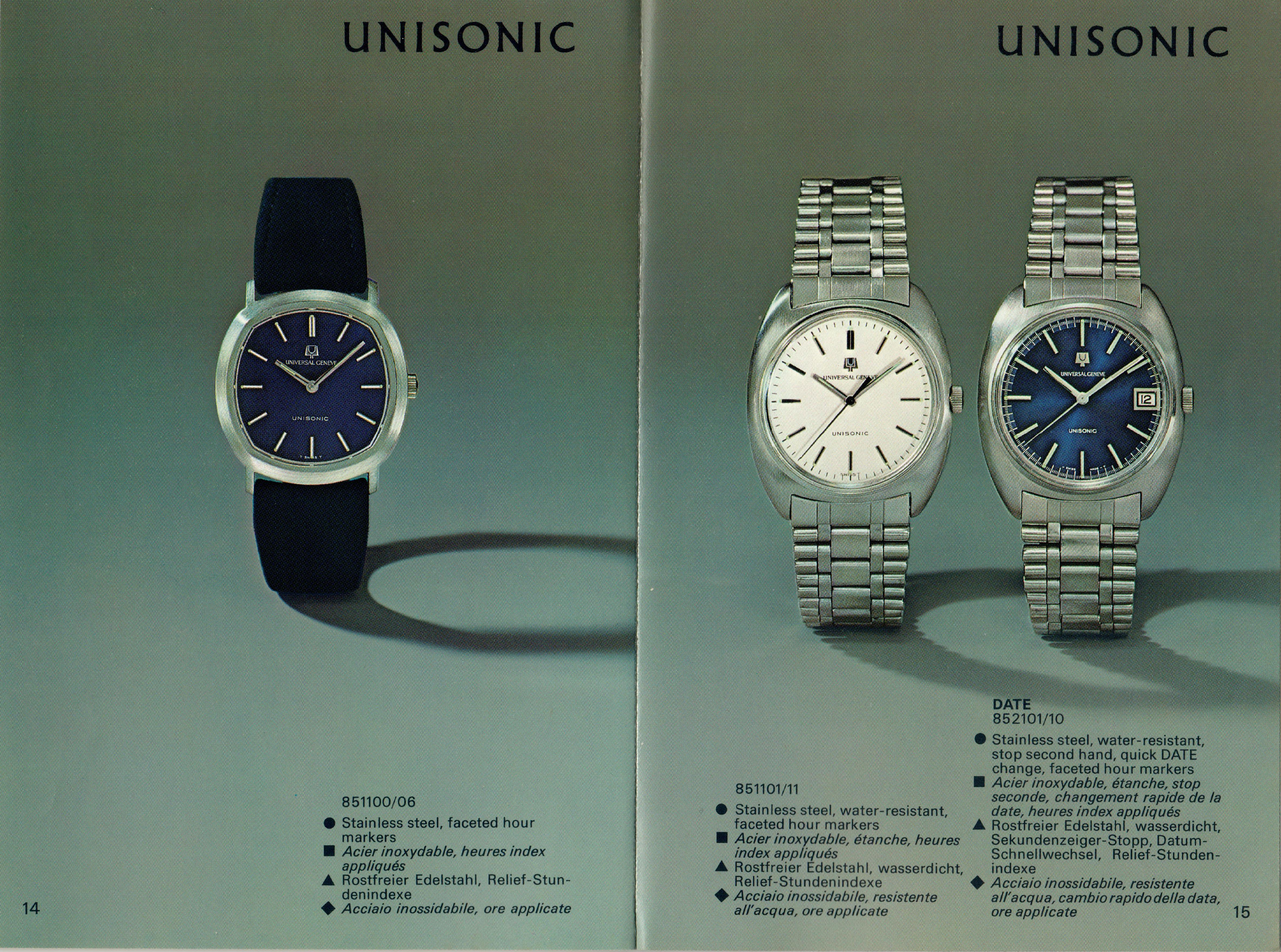 A series of Unisonic watches