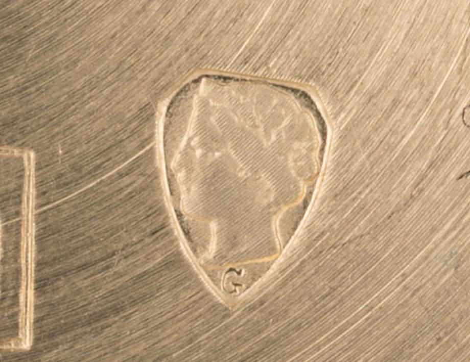 18k Stamp Helvetia Head